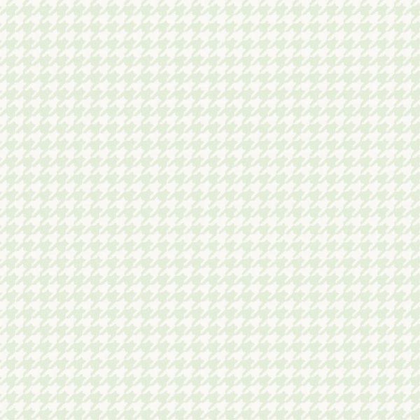 PAPEL DE PAREDE INFANTÁRIO PIED-POULE VERDE